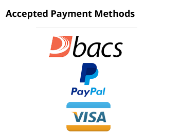 Here are some of the payment methods we accept